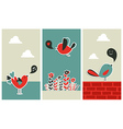 Fresh social media birds communication vector image vector image
