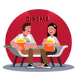 friends waiting for the cinema session vector image