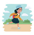 girl going back to school vector image