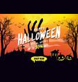 halloween sale poster or banner design vector image vector image