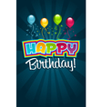 Happy birthday greeting card vector | Price: 1 Credit (USD $1)
