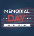 happy memorial day national american vector image vector image