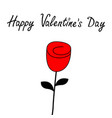 happy valentines day rose flower blossom icon vector image vector image