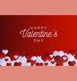 horizontal valentine day flyer or card abstract vector image vector image