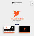 humming bird beauty logo template and business vector image vector image
