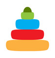isolated baby stack toy icon vector image