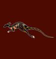 kangaroo aboriginal art style vector image vector image