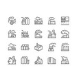 line factories icons vector image vector image