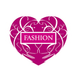 logo fashionable heart of patterns vector image vector image