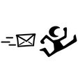 message chased stencil vector image