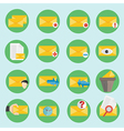 Modern email communication icon in flat design vector image vector image