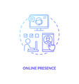 online presence blue gradient concept icon vector image