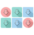 outlined icon downward direction arrow vector image