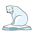 polar bear on an ice floe vector image vector image
