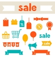 Sale and shopping icons various design elements vector image