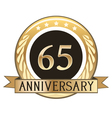 Sixty Five Year Anniversary Badge vector image vector image