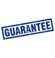 square grunge blue guarantee stamp vector image vector image