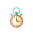 stopwatch with arrow at fifteen seconds isolated vector image