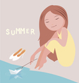 summer mood vector image vector image