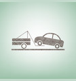tow truck sign brown flax icon on green vector image vector image