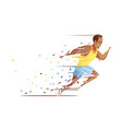 track athlete shredding concept vector image vector image