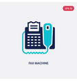 two color fax machine icon from electronic vector image