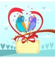 Valentine day retro cartoon vector image