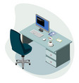workplace concept isometric vector image vector image