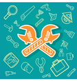 Wrench and Tools icons eps10 vector image vector image