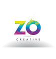 zo z o colorful letter origami triangles design vector image vector image