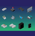 isometric gaming items vector image