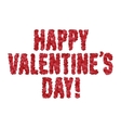 Valentine day greeting message made of hearts vector image