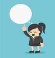 young Business Woman indicate cloud text vector image