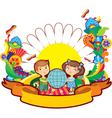 children world flower vector image