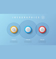 3 options infographic design presentation vector image vector image