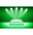 3d Green podium Pedestal Scene 3D vector image