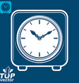 3d square stylized wall clock
