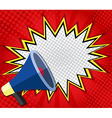 abstract boom blank speech bubble with megaphone vector image vector image