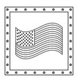 american flag stars frame decoration symbol vector image vector image