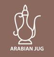 arabian jug logo template vector image