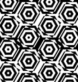 Black and white alternating squares cut through vector image vector image