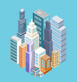 buildings of big city poster vector image vector image