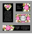 Cards with the texture of pink peonies vector image vector image