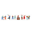 celebration party people flat isolated vector image