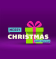 christmas greeting card flat design vector image vector image