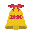Christmas or school bell symbol with bow 2020