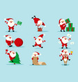 collection christmas santa claus vector image vector image