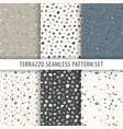 Collection of terrazzo backgrounds seamless