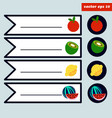 colored fruit sticker set vector image vector image