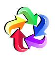 colorful arrows icon vector image